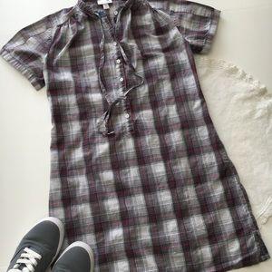 Loomstate Plaid Dress Gray/Pink sz XS